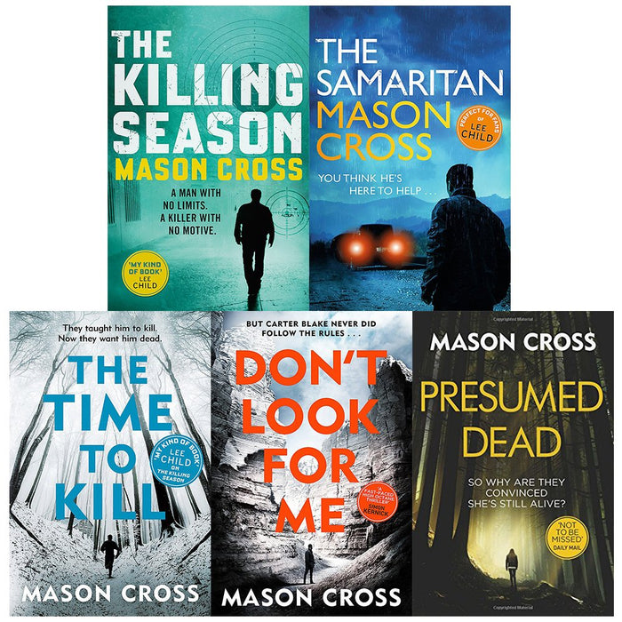 Mason cross carter blake series 5 books collection set - The Book Bundle