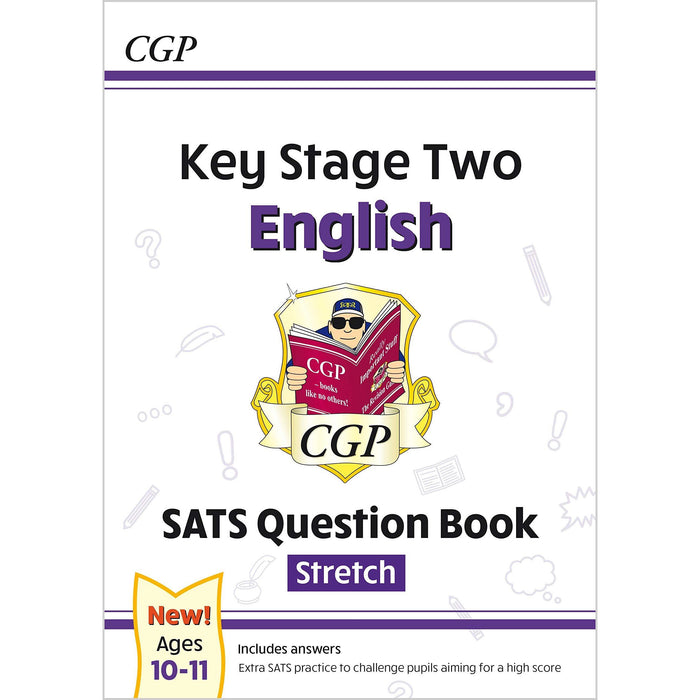 CGP New KS2 English SATS Question Book Ages 10-11, Stretch, Grammar Punctuation and Spelling Workbook Ages 7-11 Collection 4 Books Set - The Book Bundle