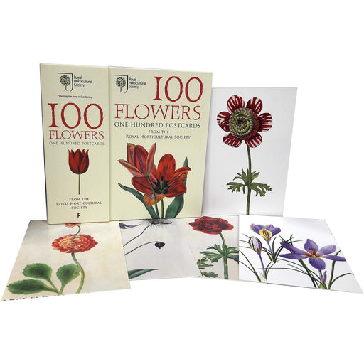 100 Flowers from the rhs one hundred postcards - The Book Bundle