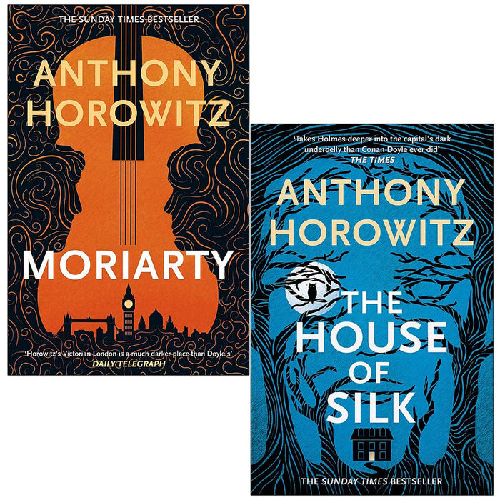 Anthony Horowitz Sherlock Holmes Collection 2 Books Set (Moriarty, The  House of Silk) | The Book Bundle