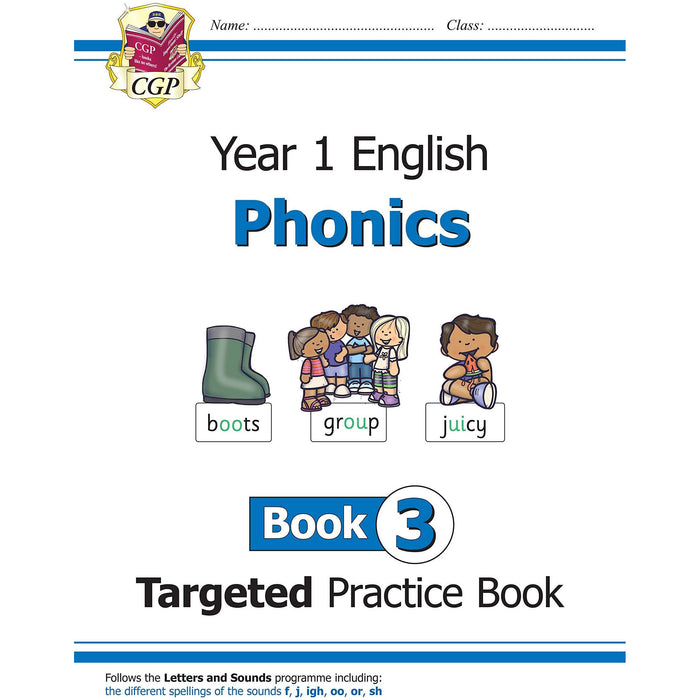 KS1 English Targeted Practice Book Phonics Year 1 Book 1-3 Collection 3 Books Set - The Book Bundle