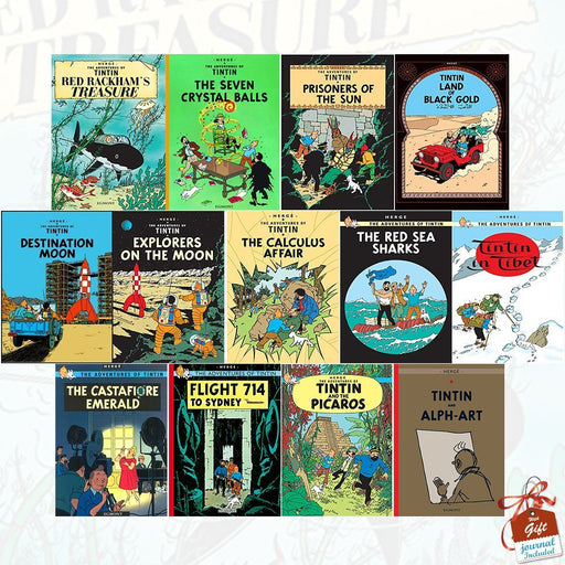 The Adventures of Tintin Books Collection Series 3 to 5 :13 Books Set - The Book Bundle