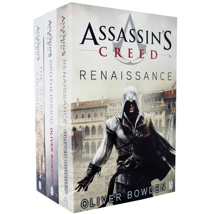 Assassins Creed 3 Books Collection set Volume 1 to 3 by Oliver Bowden (Renaissance, Brotherhood, The Secret Crusade) - The Book Bundle