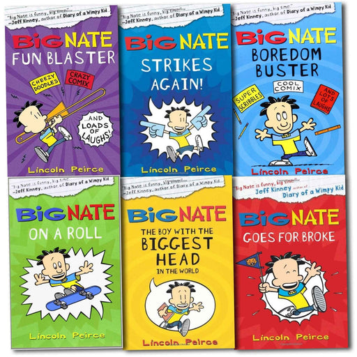 Big Nate Series Collection Lincoln Peirce 6 Books Set - The Book Bundle