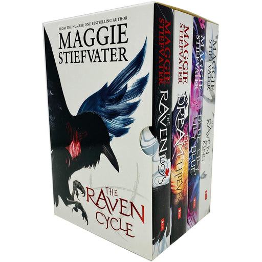 The Raven Cycle Series 4 Books Collection Box Set by Maggie Stiefvater (The Raven King, Blue Lily Lily Blue, The Dream Thieves, The Raven Boys) - The Book Bundle