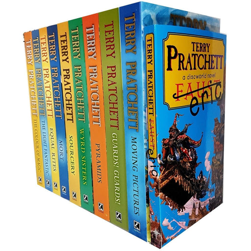Terry Pratchett Discworld Novels Series 1 And 2 :10 Books Collection Set - The Book Bundle