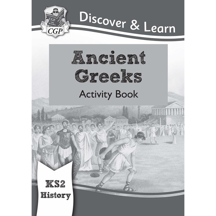 Cgp ks2 history discover and learn 3 books collection set (Ancient Egyptians, Romans in Britain, Ancient Greeks Activity book) - The Book Bundle