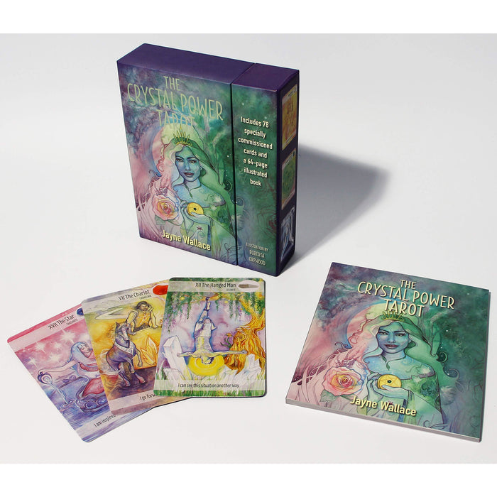 The Crystal Power Tarot: Includes a full deck of 78 specially commissioned tarot cards and a 64-page illustrated book - The Book Bundle