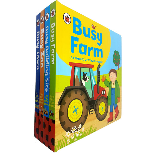 Ladybird lift-the-flap Book Busy Series 4 Books Collection Set (Busy Farm, Busy Building Site, Busy Zoo, Busy Town) - The Book Bundle
