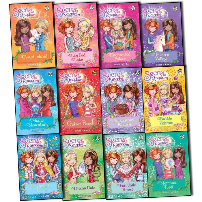 Secret Kingdom Series Collection 1 to 12 Books Set By Rosie Banks, - The Book Bundle
