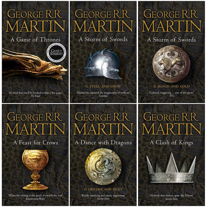 A Song of Ice and Fire Series 6 Books Collection Set By George R.R. Martin - The Book Bundle