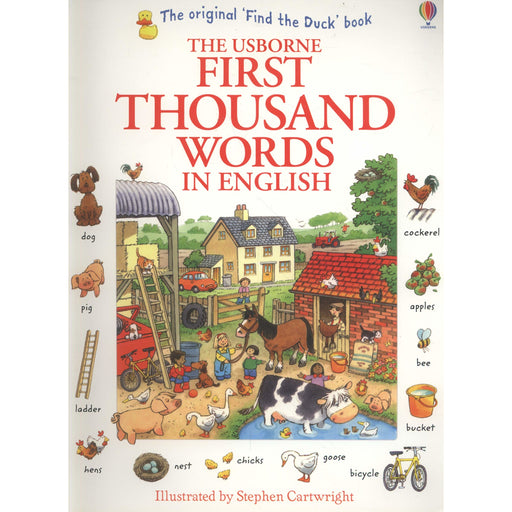 Usborne First Thousand Words In English Children Book By Heather Amery - The Book Bundle