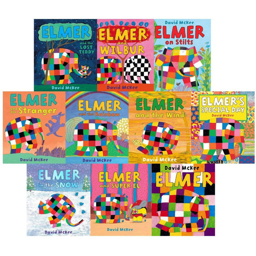 Elmer 10 Book Collection Set - Children Picture Flats Illustrated Elephant Pack Paperback - The Book Bundle