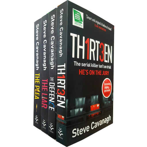 Eddie Flynn Series 4 Books Set Collection By Steve Cavanagh, Thirteen, The Plea - The Book Bundle