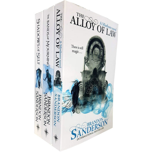 Brandon Sanderson Mistborn Novel Series 3 Books Collection Set (Shadows of Self, The Alloy of Law, The Bands of Mourning) - The Book Bundle