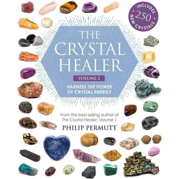 the book of crystal grids and the crystal healer 2 books collection set by philip permutt - The Book Bundle