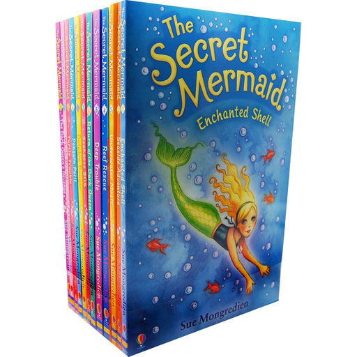 The Secret Mermaid Collection by Sue Mongredien 12 Books Set - Seaside Adventure - The Book Bundle