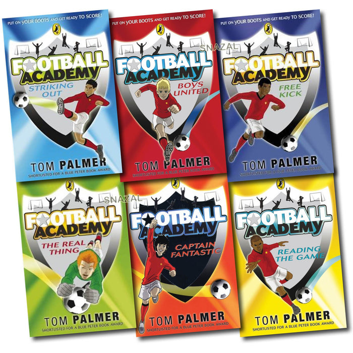 Football Academy 6 Books Set Tom Palmer collection NEW Free Kick, striking out - The Book Bundle