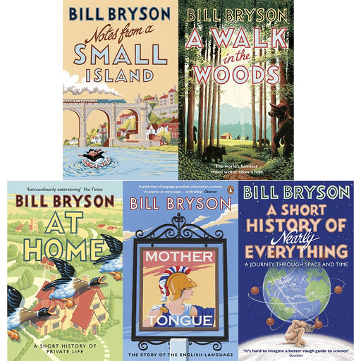 Bill bryson books set series 3:5 books collection pack - The Book Bundle