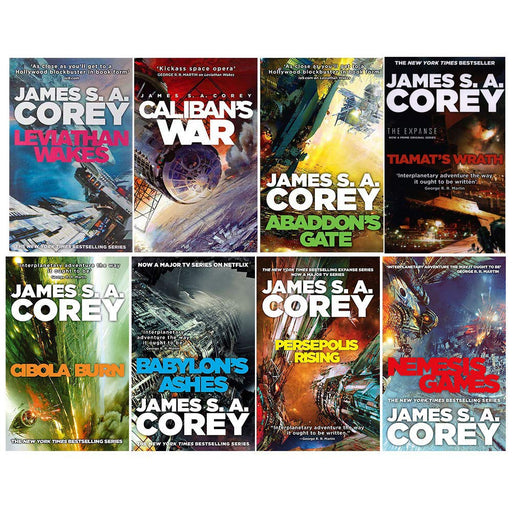 James S A Corey Expanse Series 8 Books Collection Set (Leviathan Wakes, Caliban's War, Abaddon's Gate, Cibola Burn, Nemesis Games) - The Book Bundle