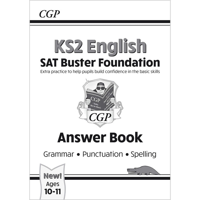 CGP New KS2 English SAT Buster Foundation Grammar, Punctuation, Spelling, Grammar 4 Books Collection Set - The Book Bundle