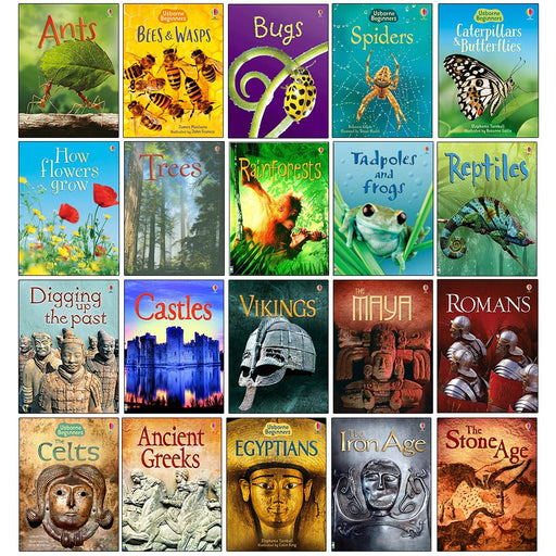 Usborne Beginners History & Nature 20 Books Collection Set - The Book Bundle
