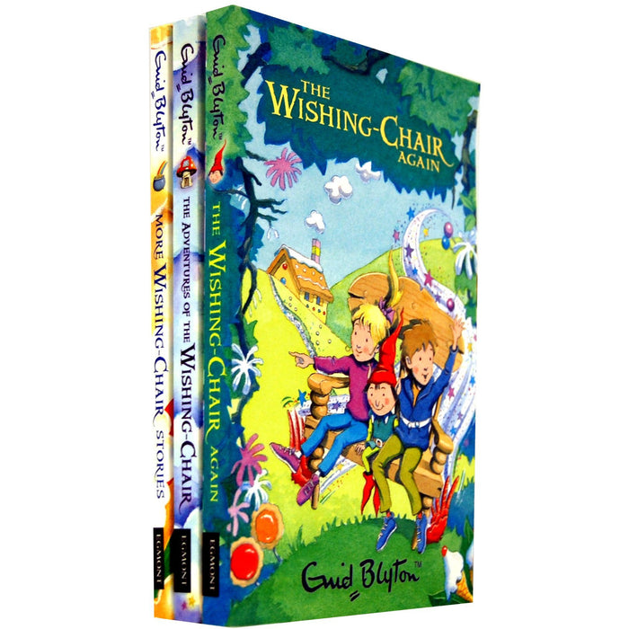 Enid Blyton Wishing Chair 3 Books Collection Set (The Adventures of the Wishing-chair, The Wishing-chair Again, More Wishing-chair Stories) - The Book Bundle