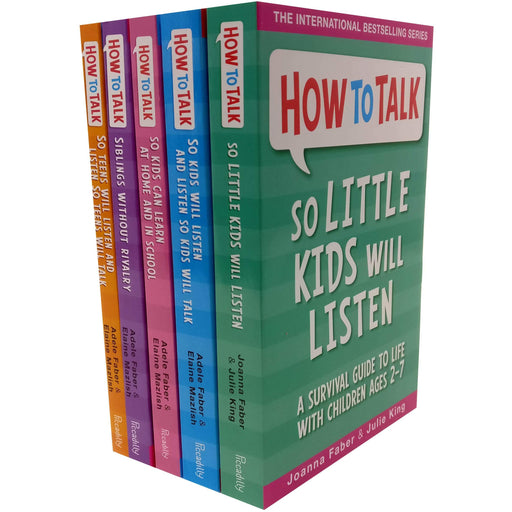 How To Talk Collection 5 Books Set (How to talk so Kids Will listen, How to talk Series) - The Book Bundle