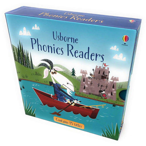 Usborne Phonics Young Readers 15 Picture Books Collection Box Set - The Book Bundle