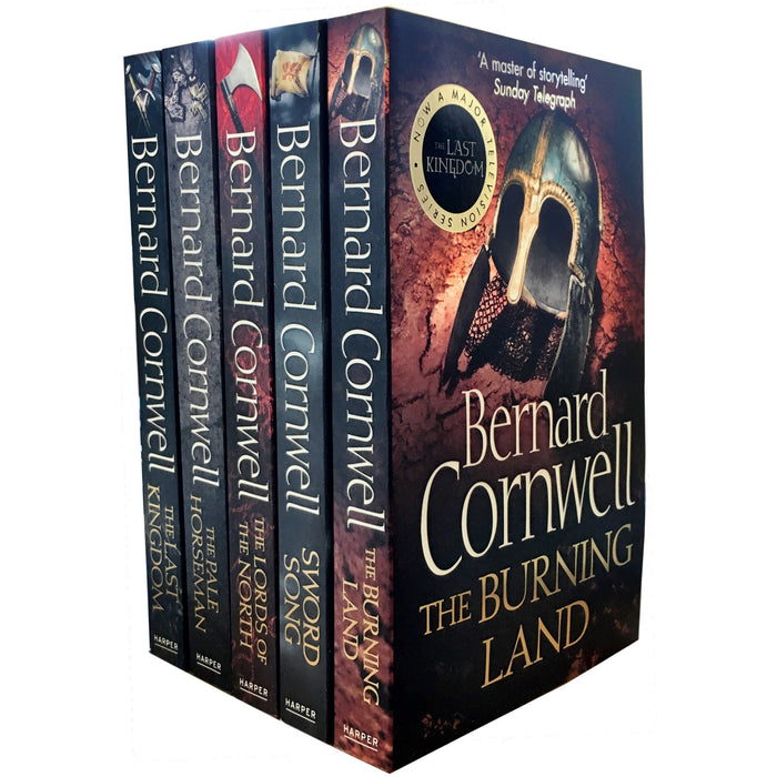 Set of 5 Books The Warrior Chronicles 1-5 (The Last Kingdom; The Pale Horseman; The Lords of the North; Sword Song; The Burning Land) - The Book Bundle