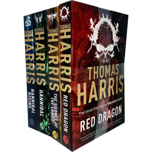 Hannibal Lecter Series Collection 4 Books Set by Thomas Harris (Red Dragon, Silence Of The Lambs, Hannibal, Hannibal Rising) - The Book Bundle
