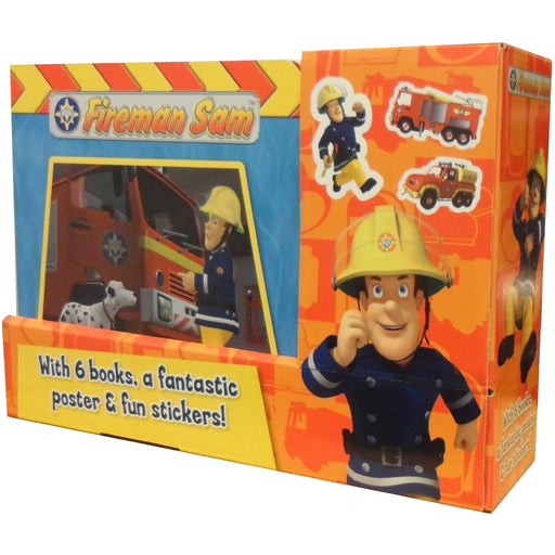 Fireman Sam 6 Books Box Set Collection Gift Pack Including Fantastic Poster & Fun Stickers (Radar to the Rescue, A Gift For Mum, Firecracker Kitty, Red Alert, Naughty Prank, A Campfire Tale)