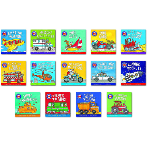 Amazing Machines Big Truckload of Fun Series Books 1 - 14 Collection Set by Tony Mitton - The Book Bundle