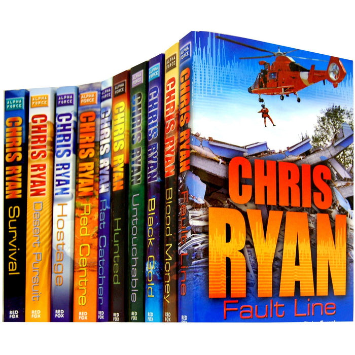 Alpha Force 10 Books Collection Set Chris Ryan (Alpha Force) (One Team - One Mission) - The Book Bundle