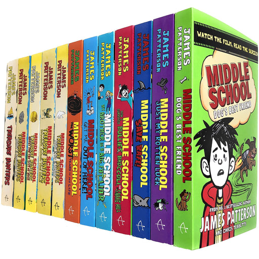James Patterson Middle School and Treasure Hunters Collection 12 Books Set - The Book Bundle