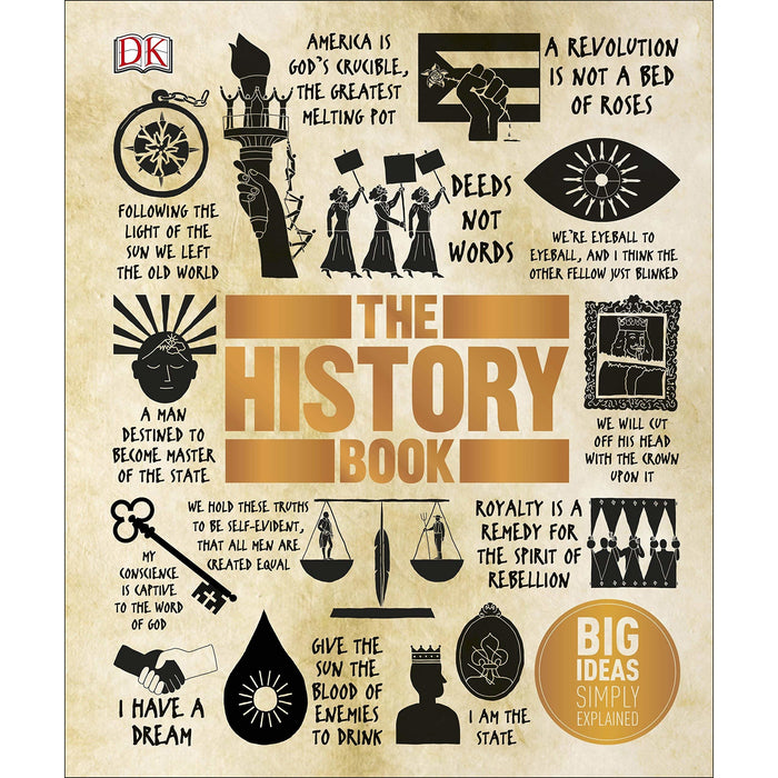 The Science Book, The History Book 2 Books Collection Set - Big Ideas Simply Explained - The Book Bundle