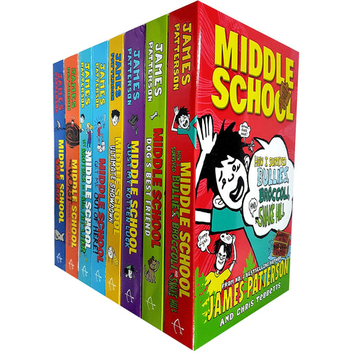 James Patterson Middle School 8 Books Collection Set (The Worst Years of My Life,Get Me Out of Here,My Brother Is a Big Fat Liar) - The Book Bundle