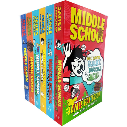 James Patterson Middle School 6 Books Collection Pack Set - The Book Bundle