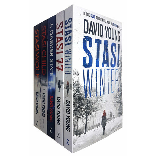 Karin Müller Series 5 Books Collection Set By David Young (Stasi Child, Stasi Wolf, A Darker State, Stasi 77, Stasi Winter) - The Book Bundle