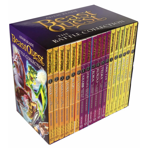 Beast Quest The Battle Collection 18 Books Series 4 - 6 Box Set by Adam Blade - The Book Bundle
