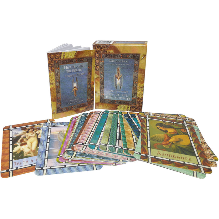 Healing with the angels oracle cards book and 44-card deck pack set - The Book Bundle