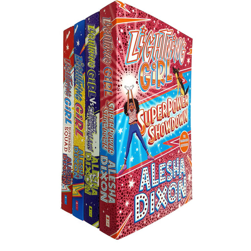 Alesha Dixon Lightning Girl 4 Books Collection Set (Lightning Girl, Superhero Squad, Secret Supervillain, Superpower Showdow) - The Book Bundle