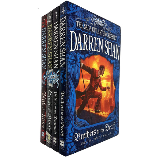 Darren Shan The Saga of Larten Crepsley Series 4 Books Collection Set (Birth of a Killer, Ocean of Blood, Palace of the Damned, Brothers to the Death) - The Book Bundle