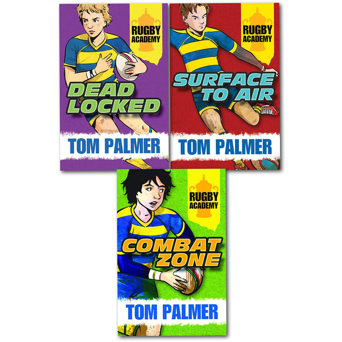 Tom Palmer Rugby Academy Collection 3 Books Set (Dead Locked, Surface to Air, Combat Zone) (Rugby Academy) - The Book Bundle