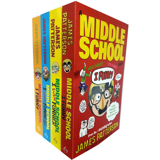 James patterson i funny series 4 books collection set (i funny, i even funnier, i totally funniest, i funny tv) - The Book Bundle