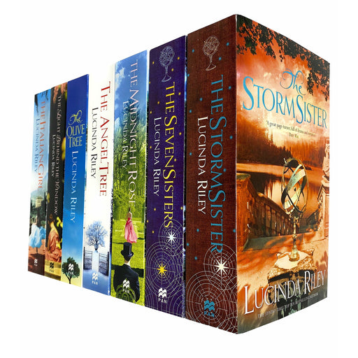 Lucinda Riley 7 Books Collection Set (Storm Sister, Seven Sisters, Midnight Rose, Angel Tree, Olive Tree, Light Behind The Window & Italian Girl) - The Book Bundle