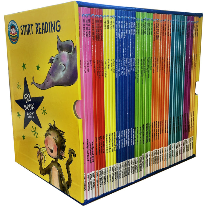 Start Reading Library 52 Books Collection Box Set Level 1 to 9 Children Early Reading - The Book Bundle