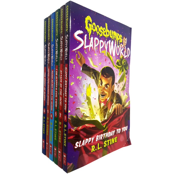 Goosebumps Slappyworld Series 1-6 Books Collection Set By R L Stine - The Book Bundle