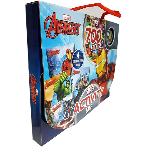 Marvel Avengers Super Activity Case 4 Sticker Activity Books Collection Set - The Book Bundle