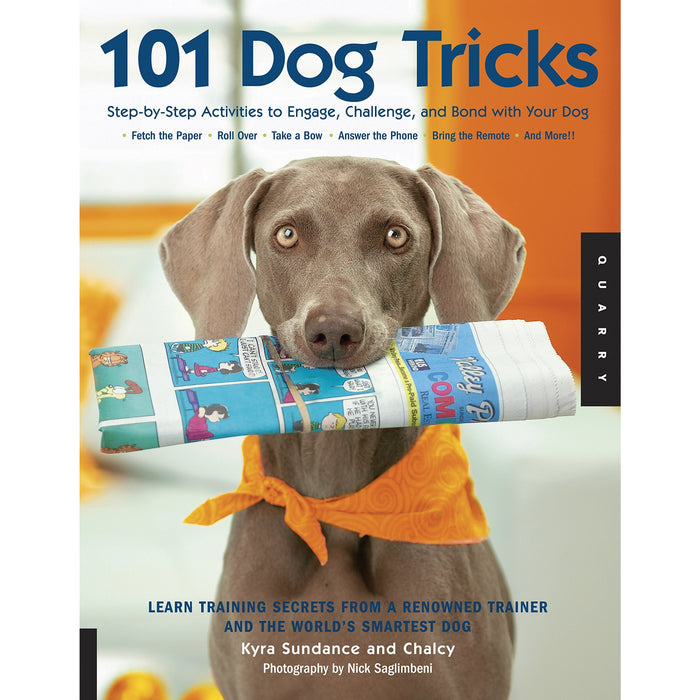 101 dog tricks, from puppy to perfect, training the working spaniel [hardcover] and psycho dog 4 books collection set - The Book Bundle